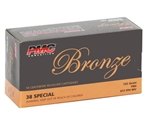 PMC Bronze 38 Special Ammo 132 Grain Full Metal Jacket