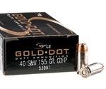 Speer Gold Dot LE Duty 40 S&W Ammo 155 Grain JHP