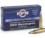 Prvi Partizan 223 Remington Ammo 55 Grain Full Metal Jacket