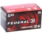 Federal American Eagle 45 ACP Auto Ammo 230 Grain FMJ 100 Rds VP
