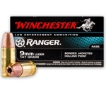 Winchester Ranger 9mm Luger 147 Gr Bonded Jacketed Hollow Point