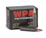 Wolf Polyformance 223 Remington Ammo 62 Gr HP Steel Case