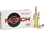 Hornady Custom 223 Remington 68 Grain Match Hollow Point Boat Tail Ammunition