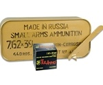 Tul 7.62x39mm Ammo 122 Grain JHP Steel Case 640 Rounds in Ammo Can