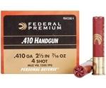 "Federal Personal Defense 410 Gauge Ammo 2 1/2"" 7/16oz. #4 Shot"