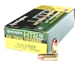 Remington HTP 9mm Luger 115 Grain Jacketed Hollow Point
