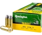 Remington Target 45 Long Colt Ammo 250 Grain Lead Round Nose