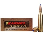 Barnes VOR-TX 243 Winchester Ammo 80 Grain Tipped Triple-Shock X Bullet Boat Tail Lead-Free