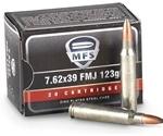MFS 7.62x39mm Ammo 123 Grain Full Metal Jacket