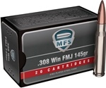 MFS Ammo 308 Winchester 145 Grain Full Metal Jacket Ammunition