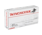 Winchester USA 40 S&W 165 Grain Full Metal Jacket