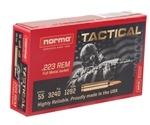 Norma USA TAC Ammo 223 Remington 55 Grain Full Metal Jacket Ammunition
