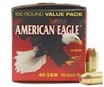 Federal American Eagle 40 S&W Ammo 180 Grain FMJ 100 Rds VP