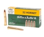 Sellier & Bellot 22 Hornet Ammo 45 Grain Full Metal Jacket