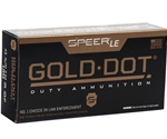Speer Gold Dot LE Duty 45 ACP AUTO Ammo 230 Gr JHP