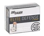 Sig Sauer Elite Performance 380 ACP Ammo 90 Grain V-Crown JHP
