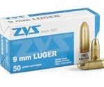 CIA ZVS 9mm Luger Ammo 124 Grain Full Metal Jacket