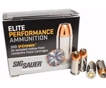 Sig Sauer Elite Performance 40 S&W Ammo 165 Grain V-Crown Jacketed Hollow Point