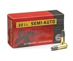 Geco 22 Long Rifle Semi-Auto Ammo 40 Grain LRN