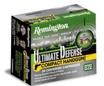 Remington Ultimate Defense Compact 40 S&W Ammo 180 Grain BJHP