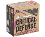 Hornady Critical Defense Lite 9mm Luger Ammo 100 Grain FTX