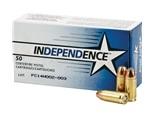 Independence 9mm Luger 115 Grain Jacketed Hollow Point