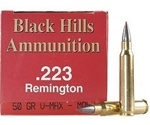 Black Hills 223 Remington Ammo 50 Grain Hornady V-Max