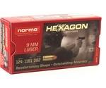Geco Hexagon 9mm Luger Ammo 124 Grain JHP