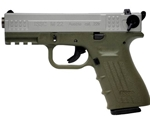 "ISSC Austria M22 Standard 22 Long Rifle 10 Round 4"" Handgun with Polymer Grip in Green"