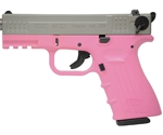 "ISSC Austria M22 Standard 22 Long Rifle 10 Round 4.3"" Handgun with Polymer Grip in Pink and Gray"