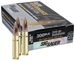 Sig Sauer Elite Performance 300 AAC Blackout Ammo 220 Grain OTM
