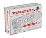 Winchester USA 9mm Luger 115 Grain FMJ