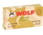 Wolf MC 6.5 Grendel Ammo 100 Grain FMJ Steel Case