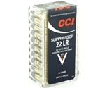 CCI Suppressor 22 Long Rifle Ammo 45 Grain Subsonic Hollow Point
