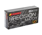 Barnes Precision Match 5.56x45mm Ammo NATO 85 Grain Open-Tip Match