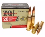ZQI Ammunition 7.62x51mm M80 Ammo 147 Grain FMJ