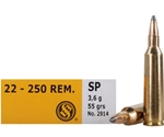 Sellier & Bellot 22-250 Remington Ammo 55 Grain Soft Point
