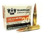 ZQI Guardian Ammunition 7.62x51mm M80 Ammo 147 Grain FMJ