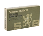 Sellier & Bellot 300 AAC Blackout Ammo 124 Grain FMJ