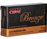 PMC Bronze 223 Remington Ammo 55 Grain Pointed Soft Point