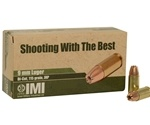 IMI Ammo 9mm Luger 115 Grain Di-Cut Jacketed Hollow Point