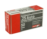 Aguila 25 ACP Auto Ammo 50 Grain Full Metal Jacket