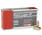 Aguila 9mm Luger Ammo 115 Grain +P Full Metal Jacket
