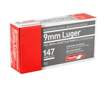 Aguila 9mm Luger Ammo 147 Grain Full Metal Jacket Flat Point