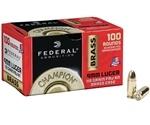 Federal Champion 9mm Luger 115 Grain FMJ Value Pack