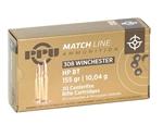 Prvi Partizan Match 308 Winchester Ammo 155 Grain HP BT