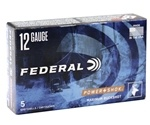 "Federal Power Shok 12 Ga Ammo 2-3/4"" 27 Pellets #4 Lead Buckshot"