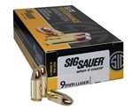 Sig Sauer Elite Performance 9mm Luger Ammo 147 Grain FMJ