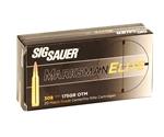 Sig Sauer Elite Performance 308 Winchester Ammo 175 Grain Open Tip Match