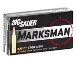 Sig Sauer Elite Performance 223 Remington Ammo 77 Grain Open Tip Match